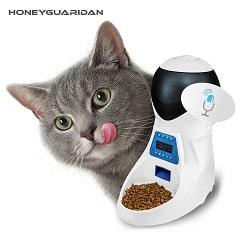 distributeur automatique de croquettes pour chat de marque honeyguaridan